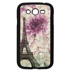 Purple Floral Vintage Paris Eiffel Tower Art Samsung I9082(galaxy Grand Duos)(black) by chicelegantboutique