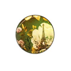 Floral Eiffel Tower Vintage French Paris Golf Ball Marker (for Hat Clip) by chicelegantboutique