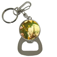 Floral Eiffel Tower Vintage French Paris Bottle Opener Key Chain by chicelegantboutique