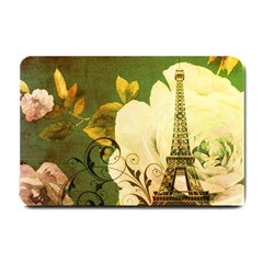 Floral Eiffel Tower Vintage French Paris Small Door Mat by chicelegantboutique