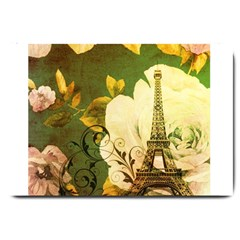 Floral Eiffel Tower Vintage French Paris Large Door Mat by chicelegantboutique