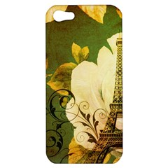 Floral Eiffel Tower Vintage French Paris Apple Iphone 5 Hardshell Case
