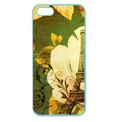 Floral Eiffel Tower Vintage French Paris Apple Seamless Iphone 5 Case (color) by chicelegantboutique