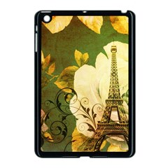 Floral Eiffel Tower Vintage French Paris Apple Ipad Mini Case (black) by chicelegantboutique
