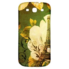 Floral Eiffel Tower Vintage French Paris Samsung Galaxy S3 S Iii Classic Hardshell Back Case by chicelegantboutique