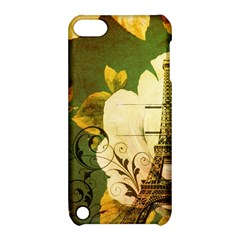 Floral Eiffel Tower Vintage French Paris Apple Ipod Touch 5 Hardshell Case With Stand by chicelegantboutique