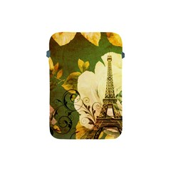Floral Eiffel Tower Vintage French Paris Apple Ipad Mini Protective Soft Case by chicelegantboutique