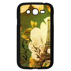 Floral Eiffel Tower Vintage French Paris Samsung I9082(galaxy Grand Duos)(black) by chicelegantboutique