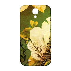Floral Eiffel Tower Vintage French Paris Samsung Galaxy S4 I9500/i9505  Hardshell Back Case