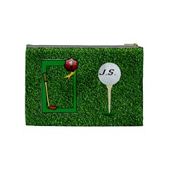 Golf Medium Cosmetic Bag By Joy Johns   Cosmetic Bag (medium)   2nh6is30h7aj   Www Artscow Com Back
