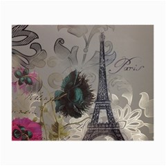 Floral Vintage Paris Eiffel Tower Art Glasses Cloth (small, Two Sided) by chicelegantboutique