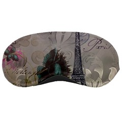 Floral Vintage Paris Eiffel Tower Art Sleeping Mask by chicelegantboutique