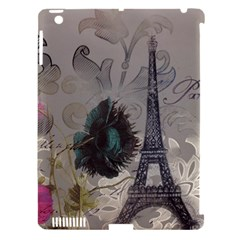 Floral Vintage Paris Eiffel Tower Art Apple Ipad 3/4 Hardshell Case (compatible With Smart Cover) by chicelegantboutique