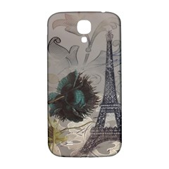 Floral Vintage Paris Eiffel Tower Art Samsung Galaxy S4 I9500/i9505  Hardshell Back Case by chicelegantboutique