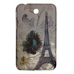 Floral Vintage Paris Eiffel Tower Art Samsung Galaxy Tab 3 (7 ) P3200 Hardshell Case  by chicelegantboutique