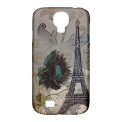 Floral Vintage Paris Eiffel Tower Art Samsung Galaxy S4 Classic Hardshell Case (pc+silicone) by chicelegantboutique