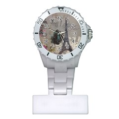 Floral Vintage Paris Eiffel Tower Art Nurses Watch