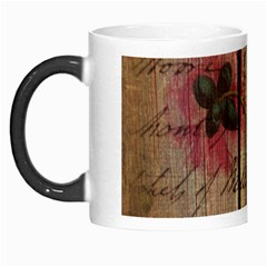 Vintage Bird Poppy Flower Botanical Art Morph Mug by chicelegantboutique