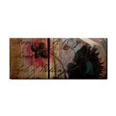 Vintage Bird Poppy Flower Botanical Art Hand Towel by chicelegantboutique
