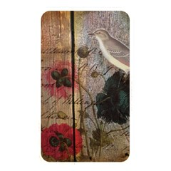 Vintage Bird Poppy Flower Botanical Art Memory Card Reader (rectangular) by chicelegantboutique