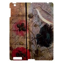 Vintage Bird Poppy Flower Botanical Art Apple Ipad 3/4 Hardshell Case by chicelegantboutique