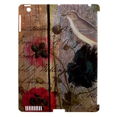 Vintage Bird Poppy Flower Botanical Art Apple Ipad 3/4 Hardshell Case (compatible With Smart Cover) by chicelegantboutique