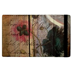 Vintage Bird Poppy Flower Botanical Art Apple Ipad 2 Flip Case by chicelegantboutique
