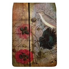 Vintage Bird Poppy Flower Botanical Art Removable Flap Cover (large) by chicelegantboutique