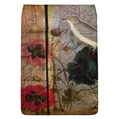 Vintage Bird Poppy Flower Botanical Art Removable Flap Cover (small) by chicelegantboutique