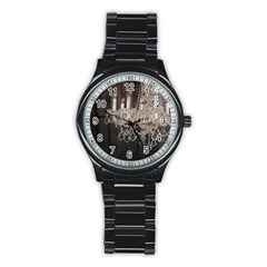 Rustic Barn Wood Chandelier Vintage Paris Fashion Sport Metal Watch (Black) by chicelegantboutique