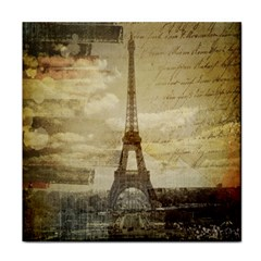 Elegant Vintage Paris Eiffel Tower Art Ceramic Tile by chicelegantboutique