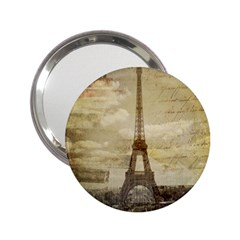 Elegant Vintage Paris Eiffel Tower Art Handbag Mirror (2.25 ) by chicelegantboutique