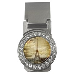 Elegant Vintage Paris Eiffel Tower Art Money Clip (cz) by chicelegantboutique
