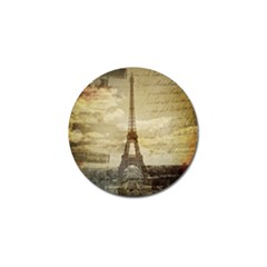 Elegant Vintage Paris Eiffel Tower Art Golf Ball Marker 4 Pack by chicelegantboutique