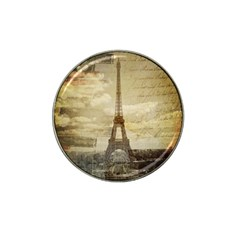 Elegant Vintage Paris Eiffel Tower Art Golf Ball Marker 4 Pack (for Hat Clip) by chicelegantboutique