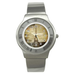 Elegant Vintage Paris Eiffel Tower Art Stainless Steel Watch (unisex) by chicelegantboutique