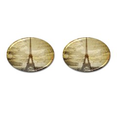 Elegant Vintage Paris Eiffel Tower Art Cufflinks (oval) by chicelegantboutique