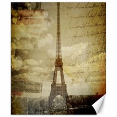 Elegant Vintage Paris Eiffel Tower Art Canvas 8  X 10  (unframed)