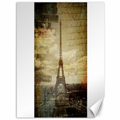 Elegant Vintage Paris Eiffel Tower Art Canvas 36  X 48  (unframed) by chicelegantboutique