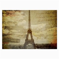 Elegant Vintage Paris Eiffel Tower Art Glasses Cloth (large, Two Sided) by chicelegantboutique