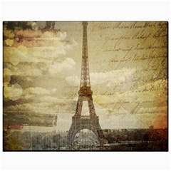 Elegant Vintage Paris Eiffel Tower Art Canvas 11  X 14  (unframed) by chicelegantboutique