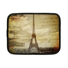 Elegant Vintage Paris Eiffel Tower Art Netbook Case (small) by chicelegantboutique