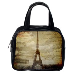 Elegant Vintage Paris Eiffel Tower Art Classic Handbag (one Side)