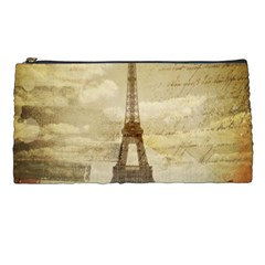 Elegant Vintage Paris Eiffel Tower Art Pencil Case by chicelegantboutique