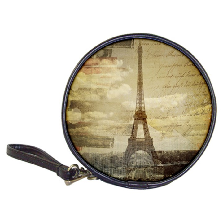 Elegant Vintage Paris Eiffel Tower Art CD Wallet