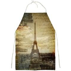 Elegant Vintage Paris Eiffel Tower Art Apron by chicelegantboutique