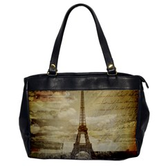 Elegant Vintage Paris Eiffel Tower Art Oversize Office Handbag (one Side) by chicelegantboutique