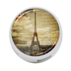 Elegant Vintage Paris Eiffel Tower Art 4 Port Usb Hub (two Sides) by chicelegantboutique