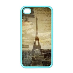 Elegant Vintage Paris Eiffel Tower Art Apple Iphone 4 Case (color) by chicelegantboutique