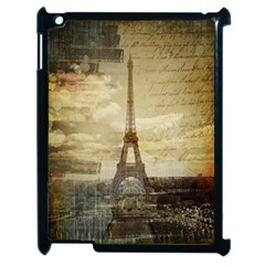 Elegant Vintage Paris Eiffel Tower Art Apple Ipad 2 Case (black)